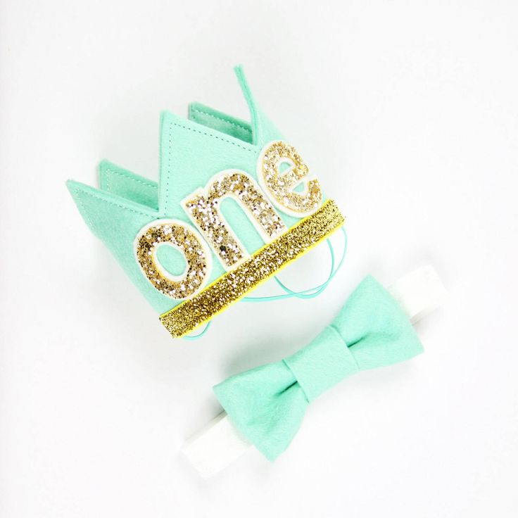 First Birthday Crown of Felt | 1st Birthday Boy Outfit for Cake Smash | Baby Boy First Birthday Outfit | 1st Birthday Hat | Mint Gold by PreshToast on Etsy https://www.etsy.com/uk/listing/491094973/first-birthday-crown-of-felt-1st