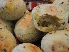 Pao de queijo sem leite, sem ovos, com semente chia, e batata doce