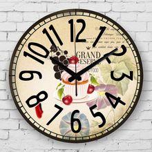 Cucina decorazione della parete orologio impermeabile orologio faccia home decor assolutamente silenzioso orologio da parete sala da pranzo orologio da parete decorativo(China (Mainland))