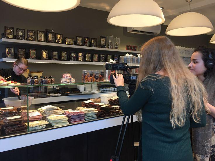 Students of the Hogeschool Utrecht are filming and making an interview at Hop & Stork #Utrecht!
