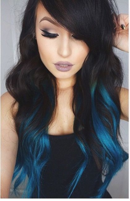 Blue balayage. Love! Mais. Are you looking for dark blue hair color for ombre and teal? See our collection full of dark blue hair color for ombre and teal and get inspired!