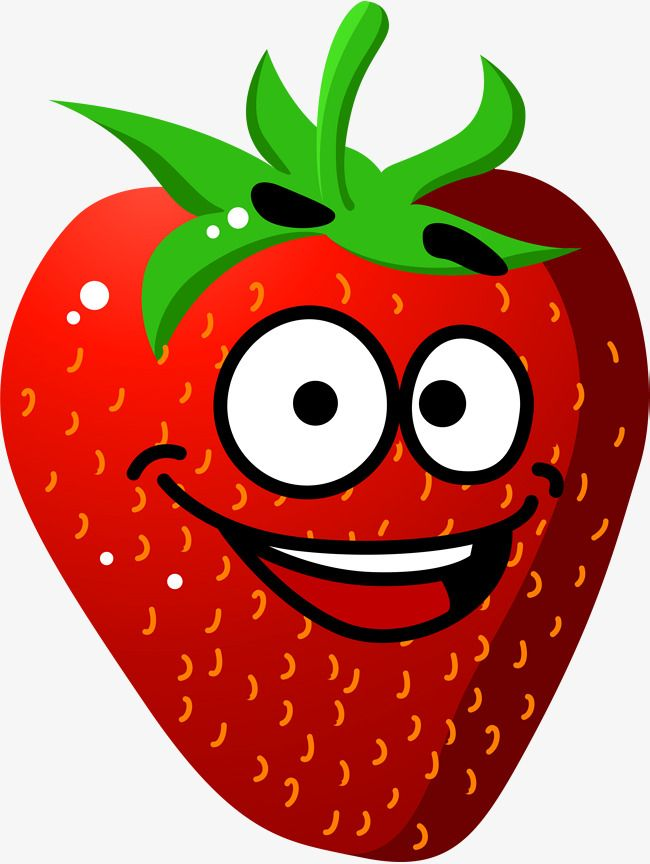 Red Smiling Strawberry | Strawberry, Strawberry clipart ...
