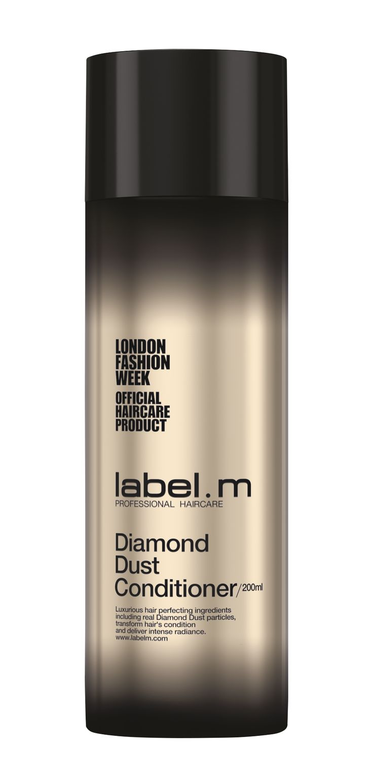 label.m Diamond Dust Conditioner Shine-enhancing pearls combined with rich yet lightweight oils extracted from white rose petals work to strengthen, protect and provide intense moisture and hydration; leaving hair revitalised with shine, softness and bounce.