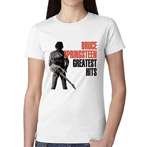 Bruce Springsteen Bruce Springsteen Greatest Hits Womans T shirt White >>> Visit the image link more details.