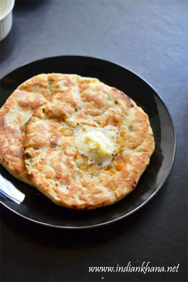 Soft, restaurant style Paneer Kulcha.  Indian flatbread stuffed with cottage cheese.