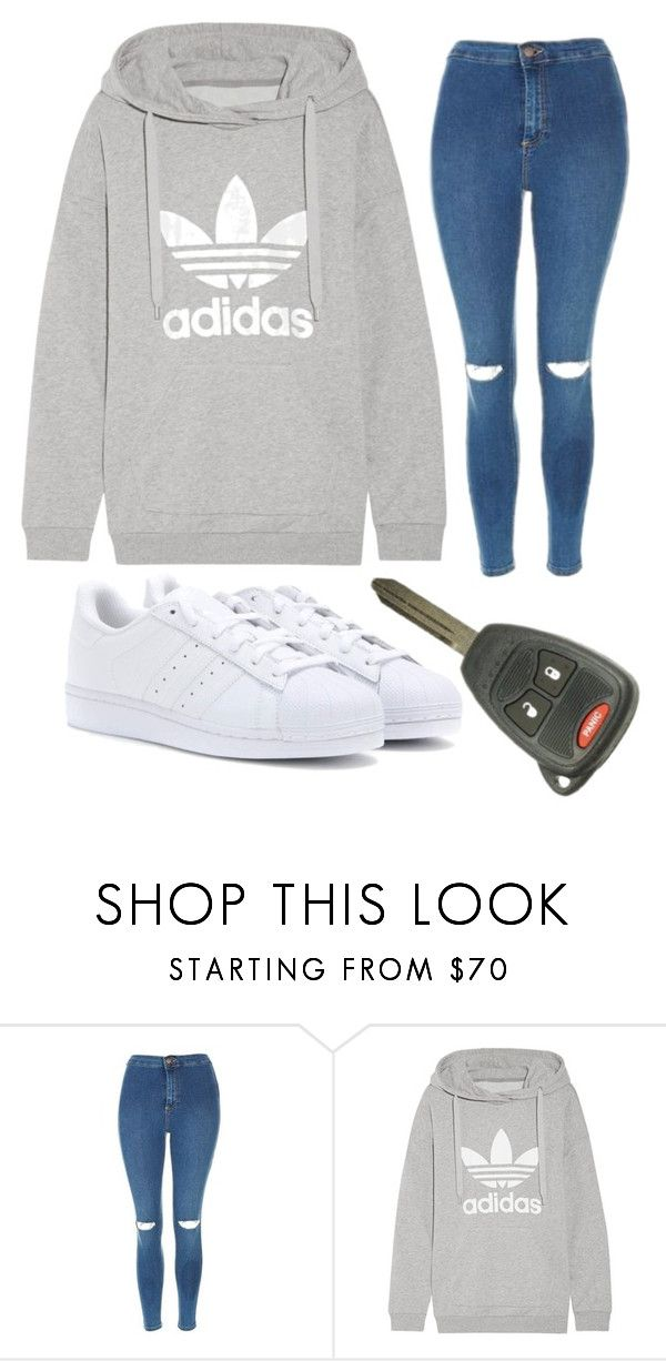 """""""taking the car out for a drive"""" by sydthekyd01 on Polyvore featuring Topshop, adidas Originals and adidas"""