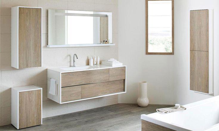 salle de bain québec | ensemble My Lodge de Sanijura laqué blanc et chêne clair, table ...
