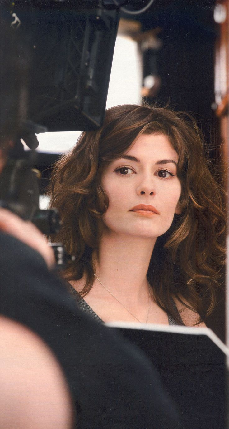 Audrey Tautou - looking very French perfect hair