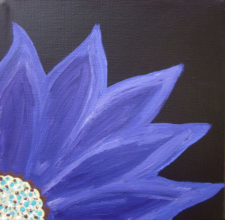 Acrylic painting flower art pinterest for How to paint flowers with acrylics on canvas