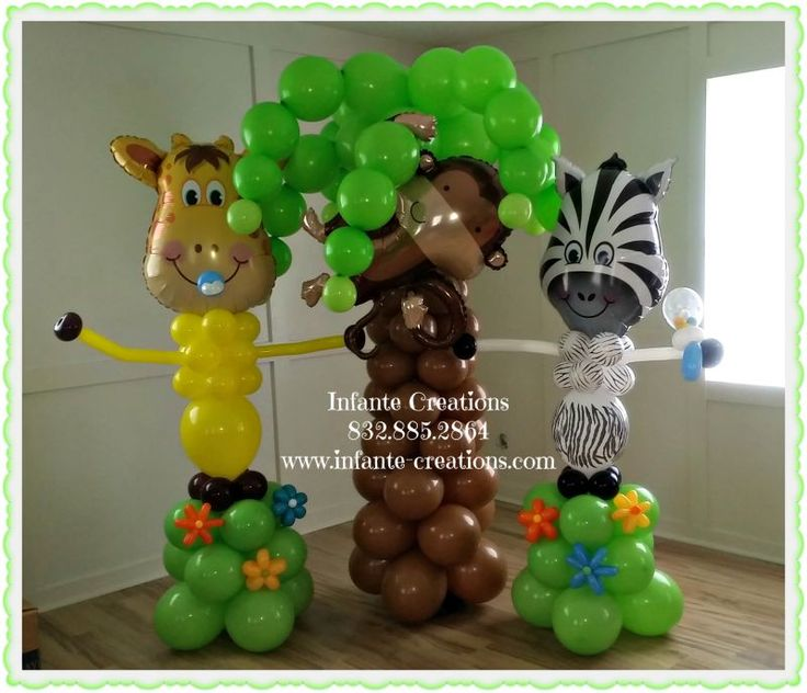 27 best images about baby shower balloons on pinterest balloon columns balloon bouquet and monkey - Monkey balloons for baby shower ...