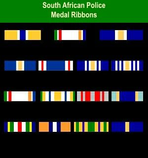 Members of the South African Police Force that was Seconded to SWAPOL - COIN / KOEVOET, would be awarded these medals (Ribbons) from time to time in terms of the applicable Warrant and Government Gazette