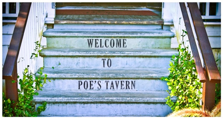 Poe's Tavern in Sullivan's Island, South Carolina is named in honor of Edgar Allan Poe, who spent time on Sullivan's Island.