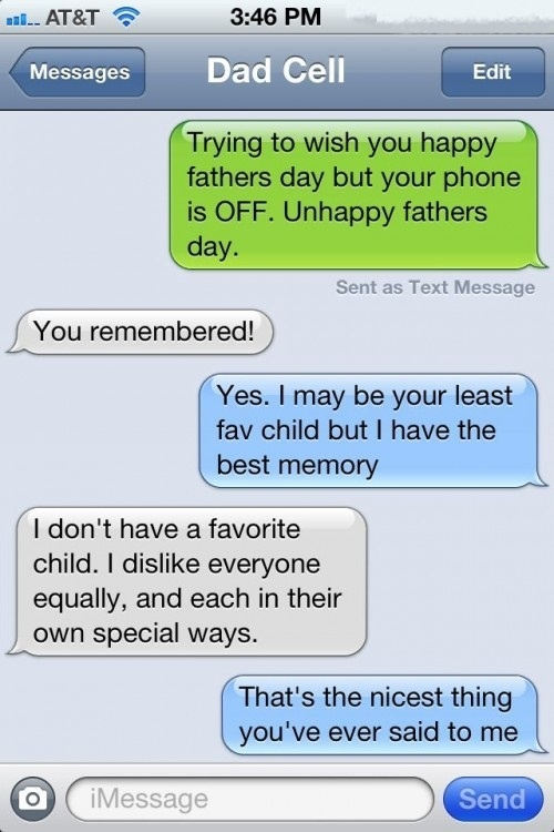 An honest father… #Epic #Texts