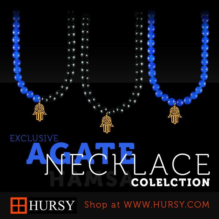 Exclusive #Gold #Hamsa #Agate #Necklace collection @Hursy.com