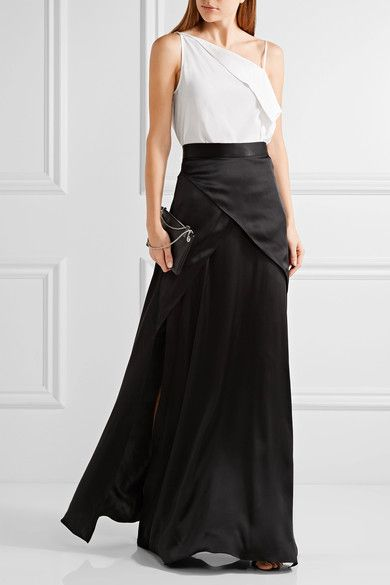 Dion Lee | Axis one-shoulder silk camisole | NET-A-PORTER.COM