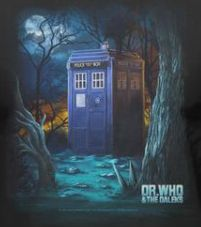 DOCTOR WHO TELEPHONE BOOTH TARDIS OFFICIAL BLACK T-SHIRT