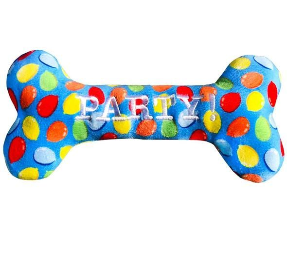 Blue Dog Birthday Squeaky Bone Toy With Images Dog Birthday