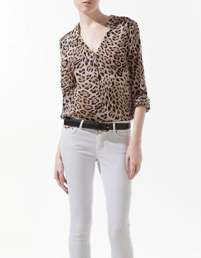 zara animal blouse - Google'da Ara