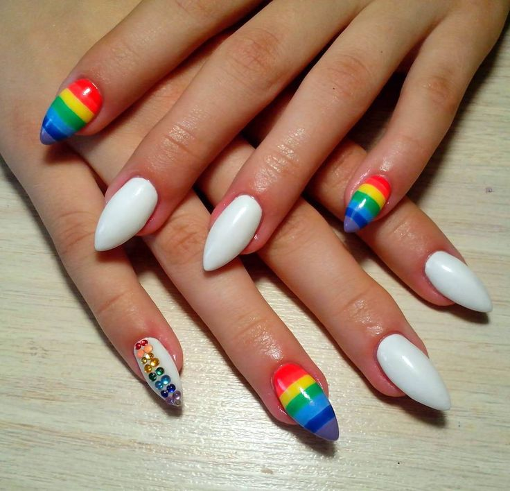 Best 25+ Rainbow nails ideas on Pinterest