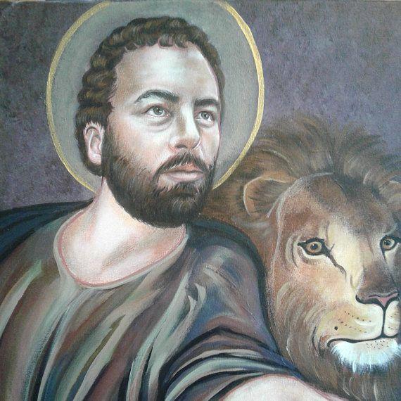 St Mark The Evangelist Martyr Gospel Winged Lion 16