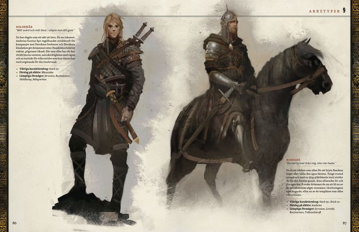 Symbaroum RPG: Archtypes (Swedish Edition, Image: Järnringen)