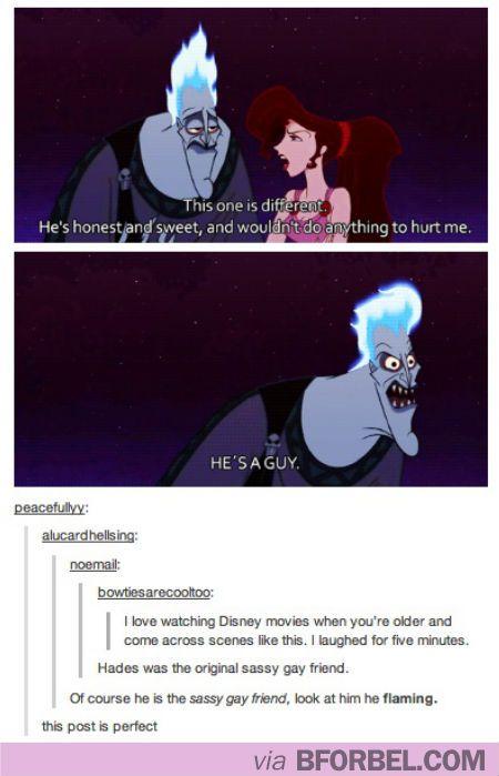 LOL Hades from Hercules was the original sassy gay best friend #disney