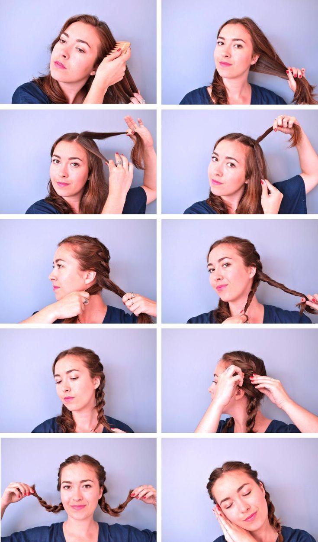 DIY Heatless curls for medium and long hair. Moukita#curls #diy #hair #heatless #long #medium #moukita