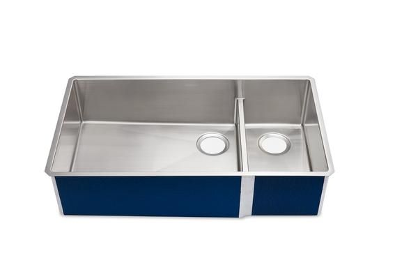 Sullivan 36 Double Bowl Basin Stainless Steel Kitchen Sink Made With 14 Gauge 316 Stainless Steel Features Include Stainless Steel Kitchen Sink Basin Sink