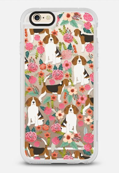 Beagle florals cute trendy girly transparent dog breed must have gifts for dog lover beagle owners iPhone 6 case by Pet Friendly | Casetify