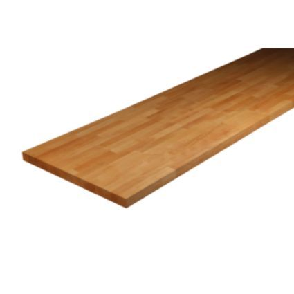 B&Q Solid Wood Kitchen Worktop (L)3m: in (low) stock in local store, can pick up any time. Wood will be fine in your utility as it won't be near a sink.