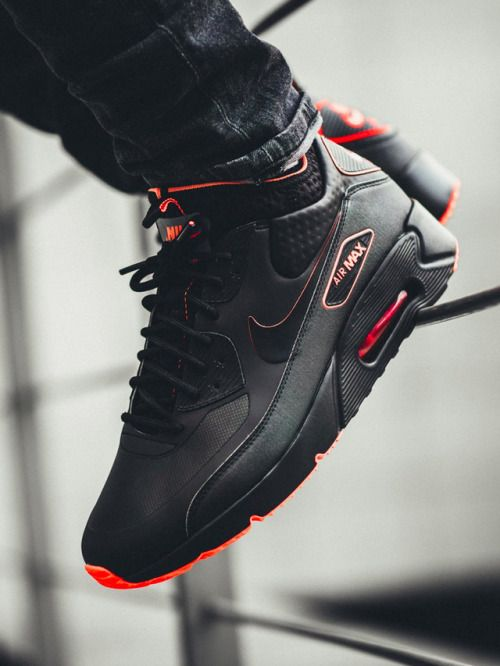 best loved e536f 324f4 Nike Air Max 90 Ultra Mid Winter SE - Black Crimson - 2017 (by.