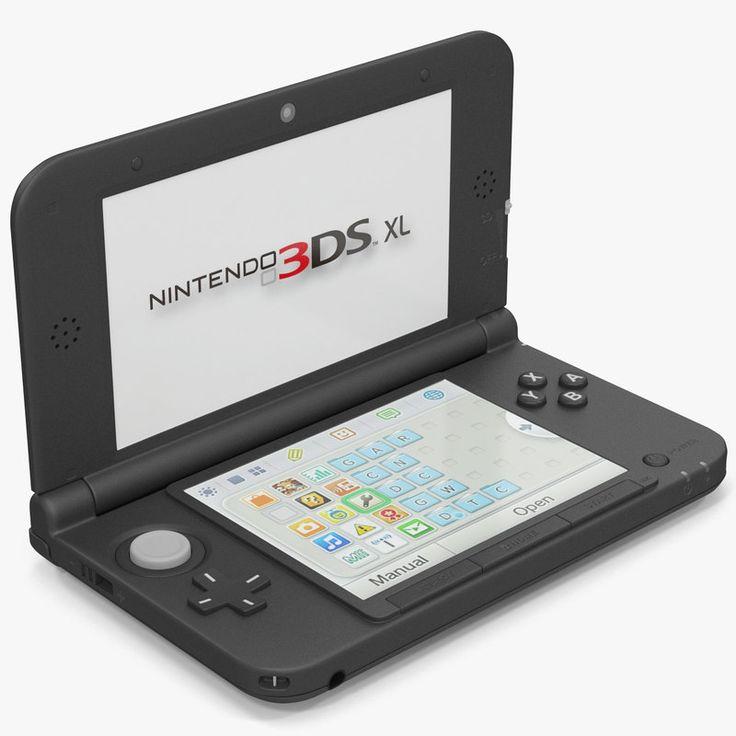 3D Model Nintendo Xl Black - 3D Model