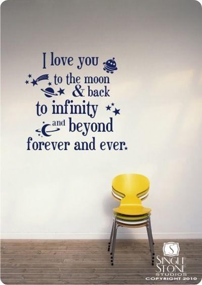 Wallsticker: I love you...