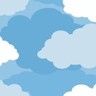 Graphic Clouds Blue Wallpaper KD1784