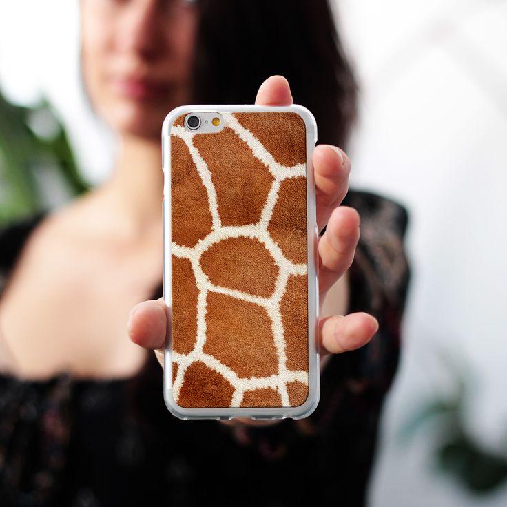 Zabawne etui do telefonu z motywem łaciatego futra żyrafy #giraffe #case #fur #animal