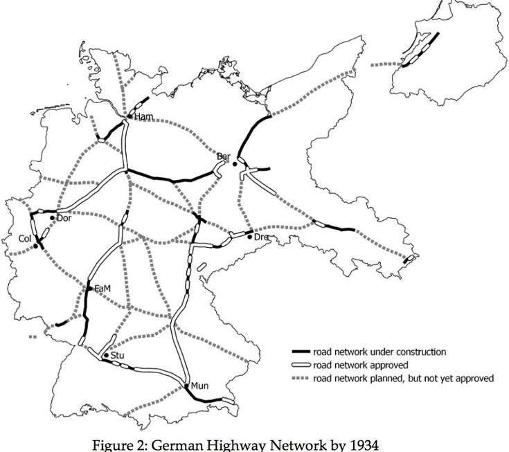 How Highway Construction Helped Hitler Rise To Power CityLab - Germany map autobahn