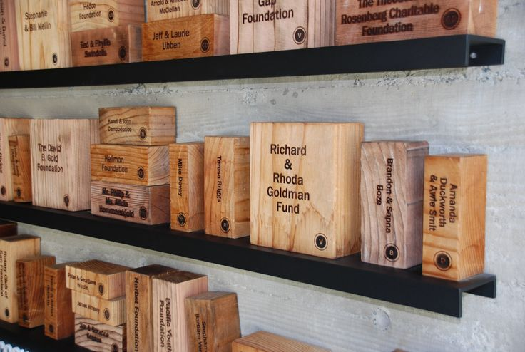 Donor Recognition Wall Designed by Sky Design #wood #woodburning