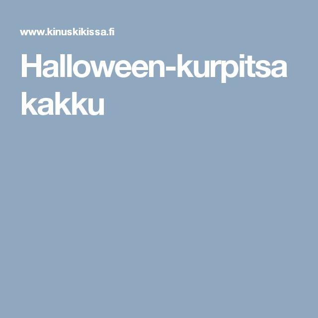 Halloween-kurpitsakakku