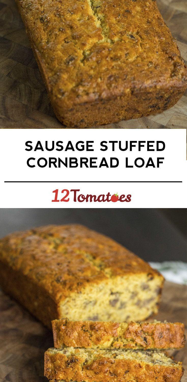 Sausage-Stuffed Cornbread Loaf