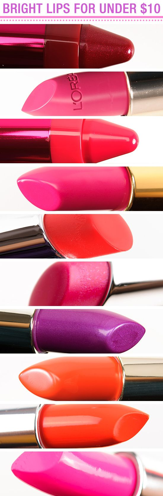 10 of the Best Bright Lipsticks for Under $10