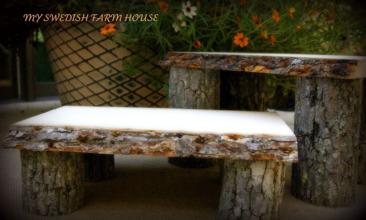 Tree stump benches rustic cabin decor pinterest for Tree trunk garden bench