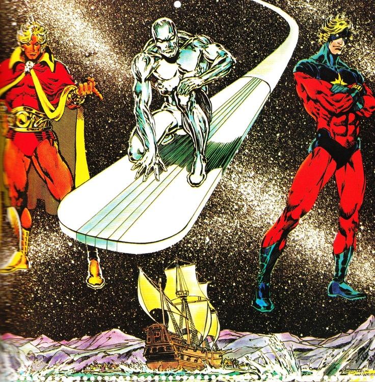 Adam Warlock, Silver Surfer and Captain Marvel