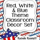 This classroom set includes everything you need for an American Patriotic themed classroom in red, white,  blue!   Included are:  Alphabet Pos...