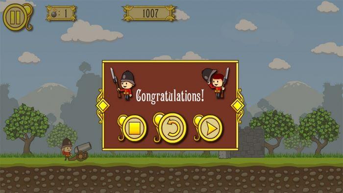 Цель и стрелять ! Используйте канон , чтобы уничтожить всех врагов с ограниченным количеством бомб . Позаботьтесь о том, что заложники не будут устранены.  Источник: http://games-topic.com/112-cannons-and-soldiers.html