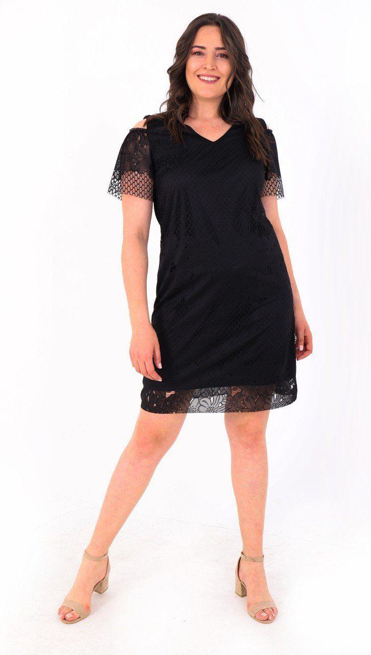 Buyuk Beden Paradise Elbise Black Black Kadin Giyim Giyim Elbise