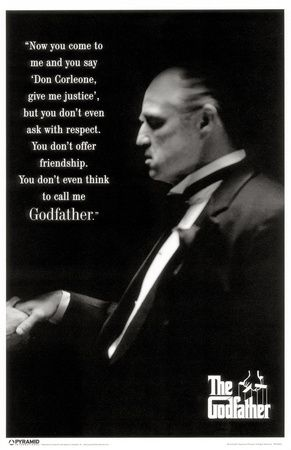 Marlon Brando as Don Vito Corleone in The Godfather (1972).