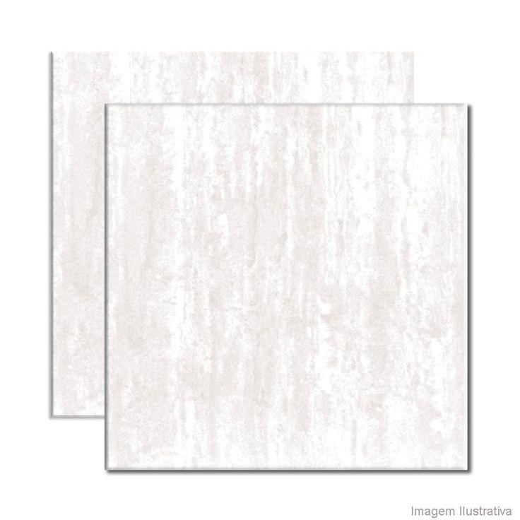 Porcelanato esmaltado semi-brilho bold 61x61cm Merano branco Incepa - Telhanorte