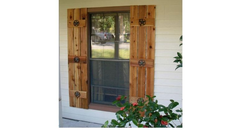 25 Best Ideas About Exterior Wood Shutters On Pinterest