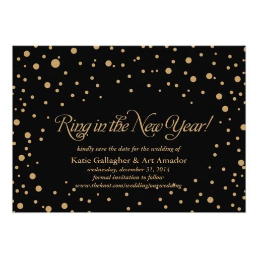 New Years Eve Save the Date Announcement, engagement party, wedding shower, reception, Christmas party, anniversary