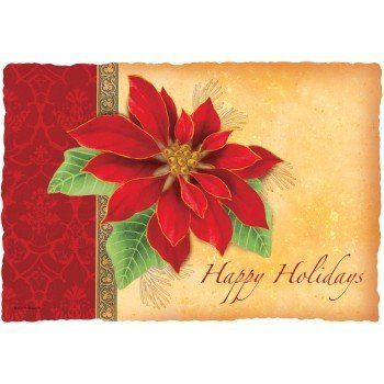 Botanical Poinsettia Paper Placemats 50 Per Pack by Hoffmaster. $8.69. 50 Paper Place-mats per Pack. Design is stylish and innovative. Satisfaction Ensured. Manufactured to the Highest Quality Available.. A simple placemat can transform the table from simple to elegant, or from drab to colorful.